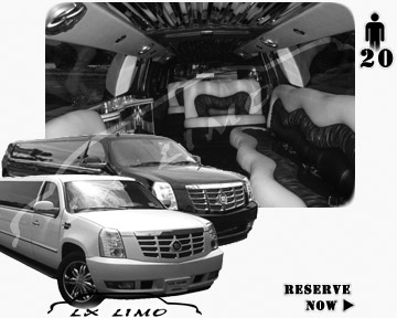Cadillac Escalade 20 passenger SUV Limousine for rental in Mesa AZ