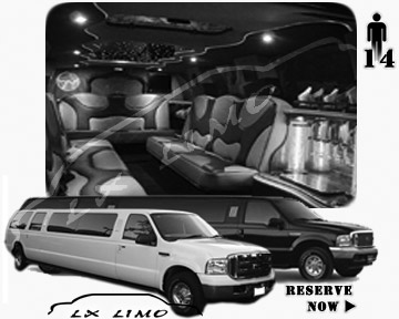 Lincoln Excursion SUV Limo for hire in Mesa AZ
